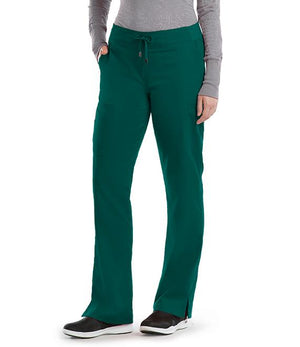 Grey's 6 Pocket Tie Front Pant Hunter Green