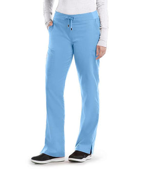 Grey's 6 Pocket Tie Front Pant Ceil Blue