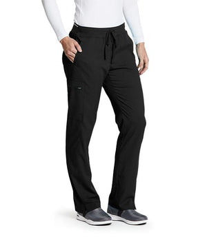 Women's Kim Colorblock Scrub Pant Black