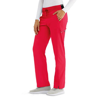 Women's Kim Colorblock Scrub Pant Red
