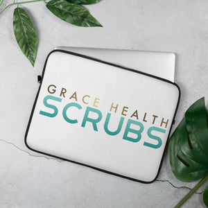 Grace Health Scrubs Laptop Sleeve-White