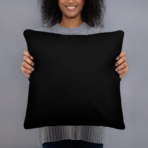 Purpose Over Fear Pillow Black