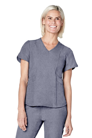 ADAR Pro Women's Polished Melange Tailored V-Neck Top