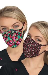 koi Reversible Fashion Mask 2-pc - Rose Garden/Ditsy Floral Light Orchid