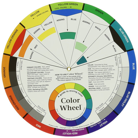 A color wheel will tell you what colors are complimentary to each other