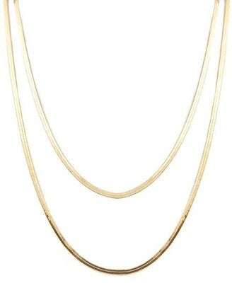2 layer gold snake chain
