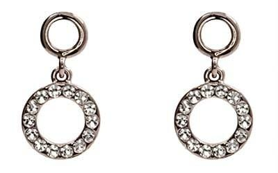 Dainty Mini CZ drop circle Earrings