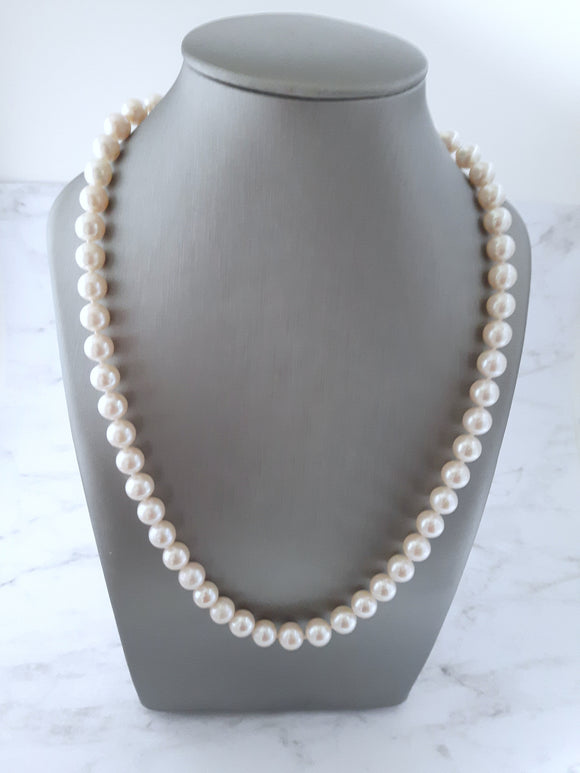 Pearl Single Line Necklace Freshwater Cultured