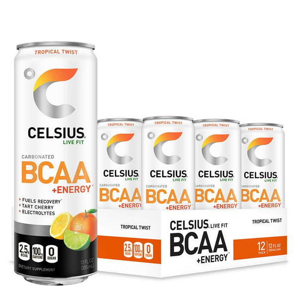 Celsius BCAA +Energy Carbonated (355ml) 12 Cans