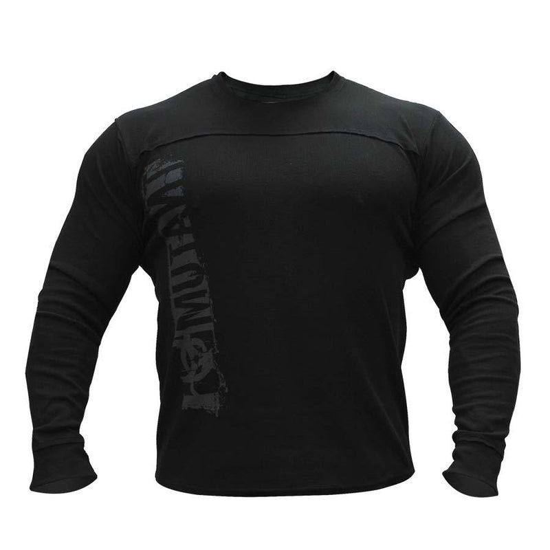 Clothing - Mutant Long Sleeve Thermal Sweater Leave Humanity Behind (Black)