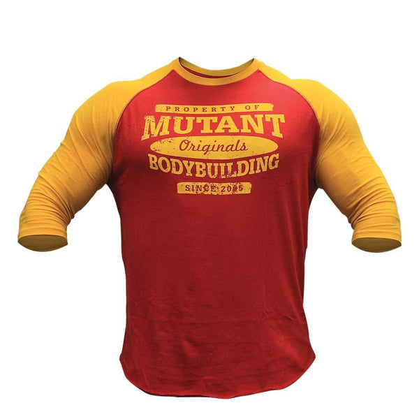 Clothing - Mutant T-Shirt Baseball (Red/Yellow)