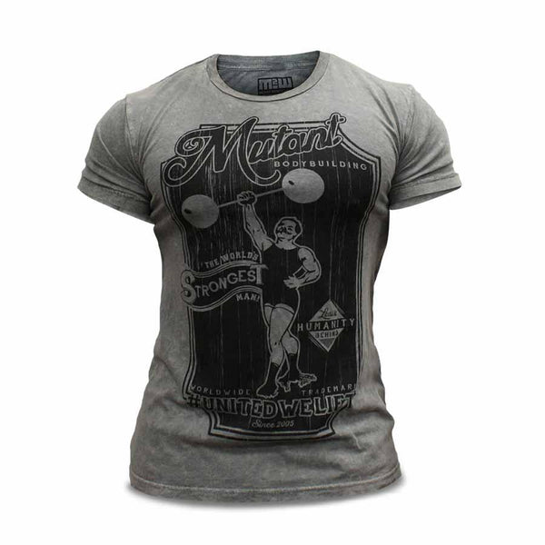 Clothing - Mutant T-Shirt Vintage Bodybuilding (Grey)