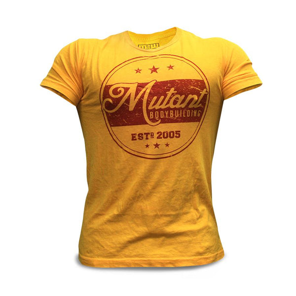 Clothing - Mutant T-Shirt Vintage Bodybuilding (Yellow)