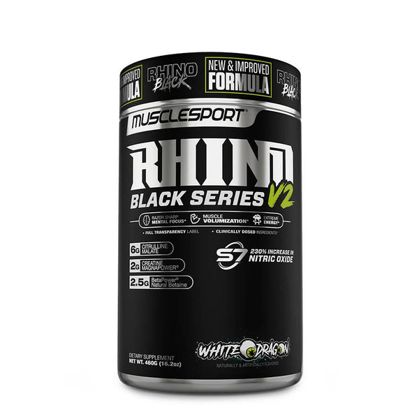 MuscleSport Rhino Black V2 (40 Serve) 460g