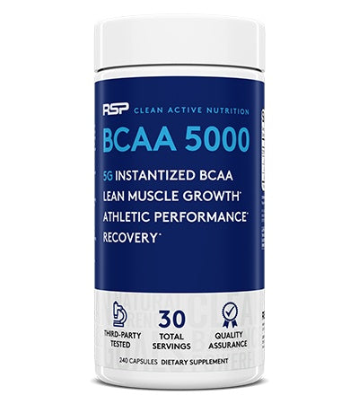 RSP Nutrition BCAA 5000 2:1:1 (30 Serve) 240 Capsules