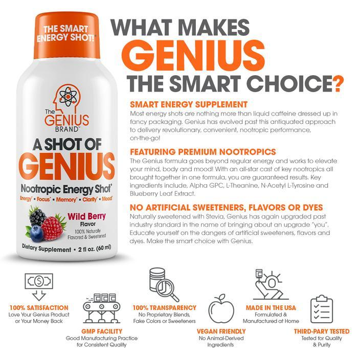 The Genius Brand A Shot of Genius (30ml) 6 Pack