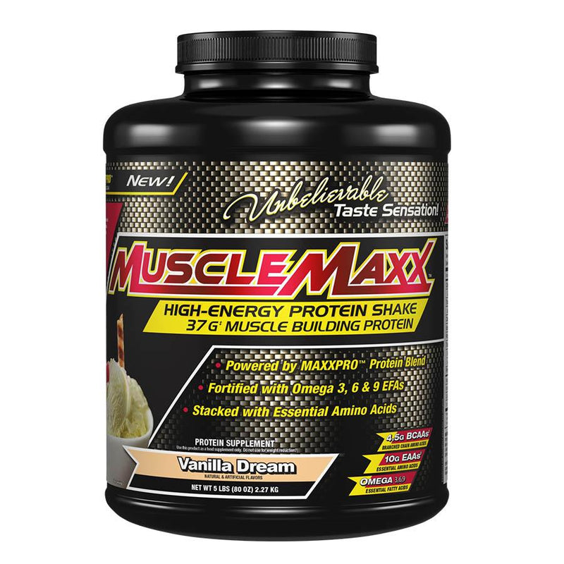 Protein - MuscleMaxx High-Energy Protein Shake (2.27kg) Vanilla Dream