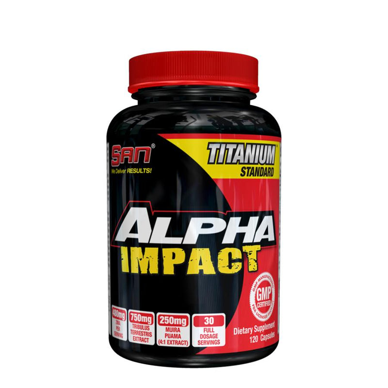 Supplements - SAN Nutrition Alpha Impact (30 Serve) 120 Capsules