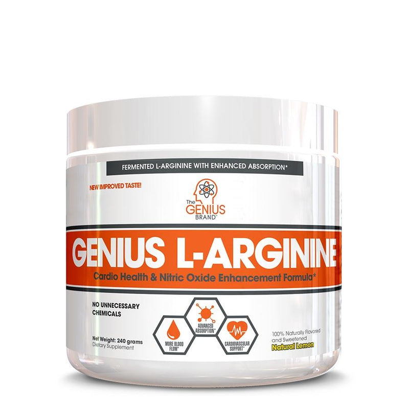 Supplements - The Genius Brand L-Arginine Natural Lemon (30 Serve) 240g
