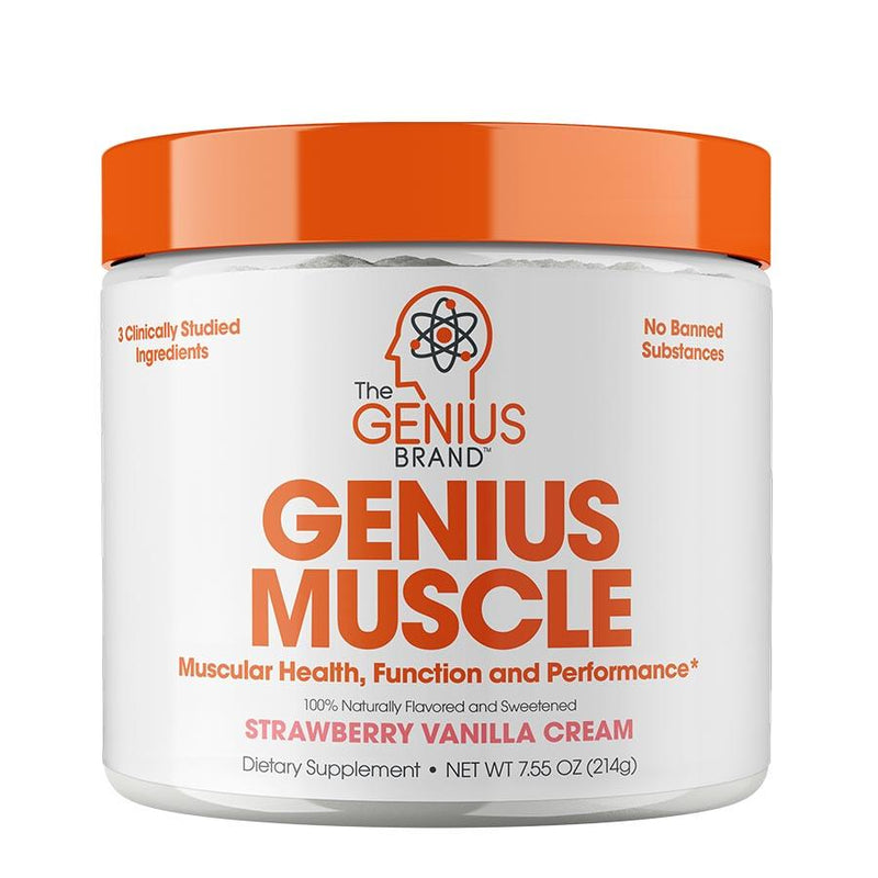 Vitamins & Health - The Genius Brand Muscle Strawberry Vanilla Cream (30 Serve) 219g