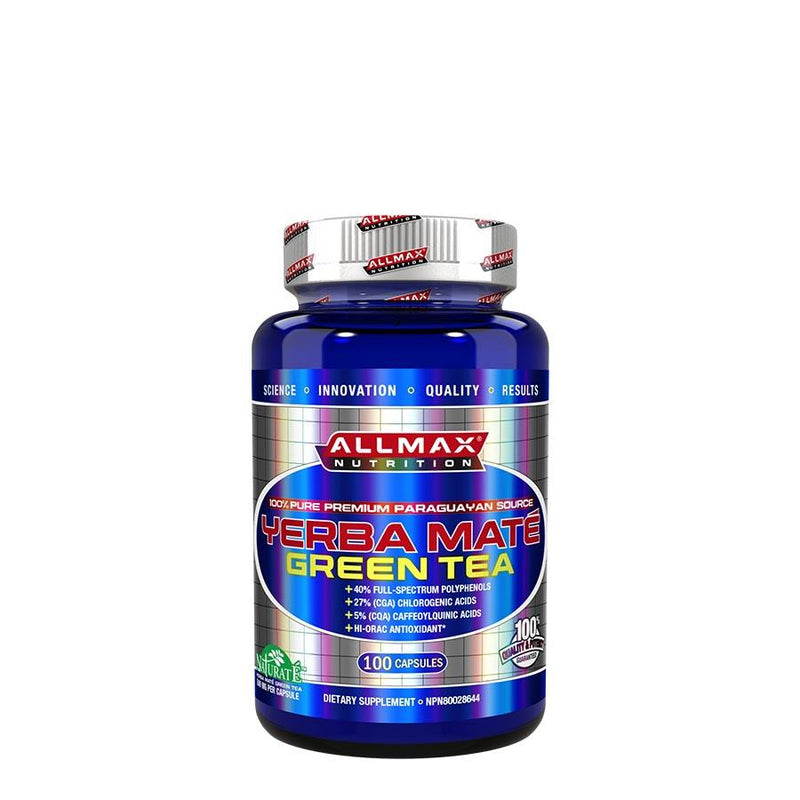 Weight Management - Allmax Nutrition Yerba Mate Green Tea (100 Capsules)