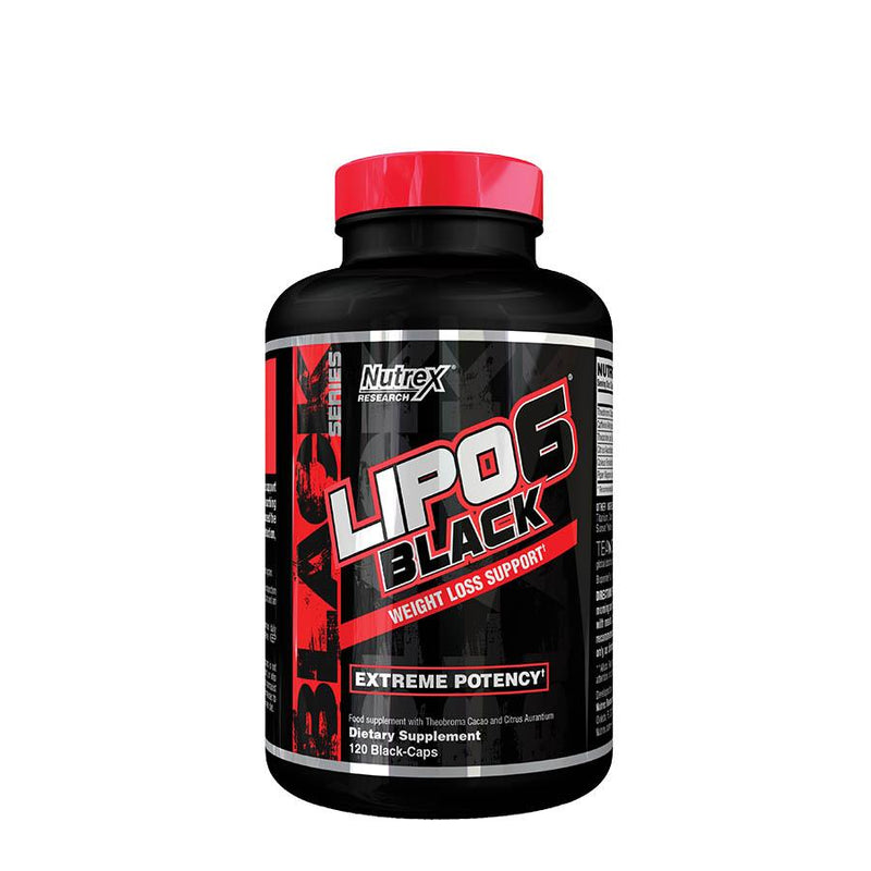 Weight Management - Nutrex Research Lipo-6 Black (40 Serve) 120 Capsules