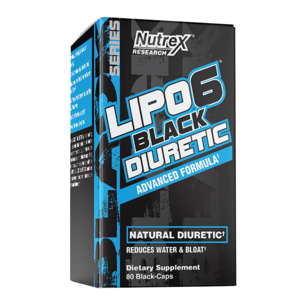 Weight Management - Nutrex Research Lipo-6 Black Diuretic (20 Serve) 80 Caps