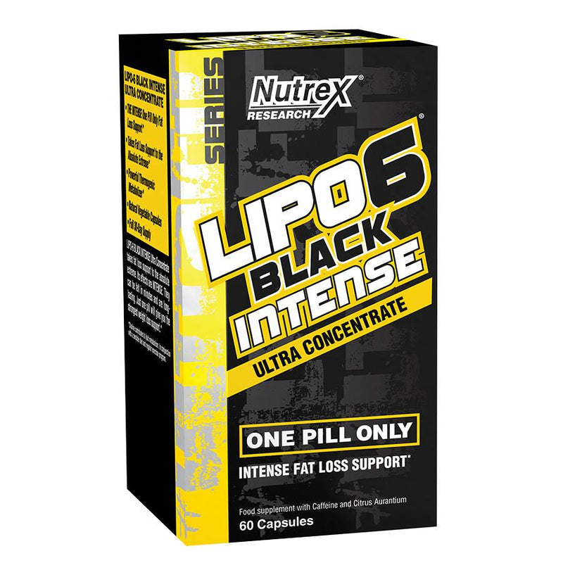 Weight Management - Nutrex Research Lipo-6 Black Intense (60 Serve) 60 Capsules