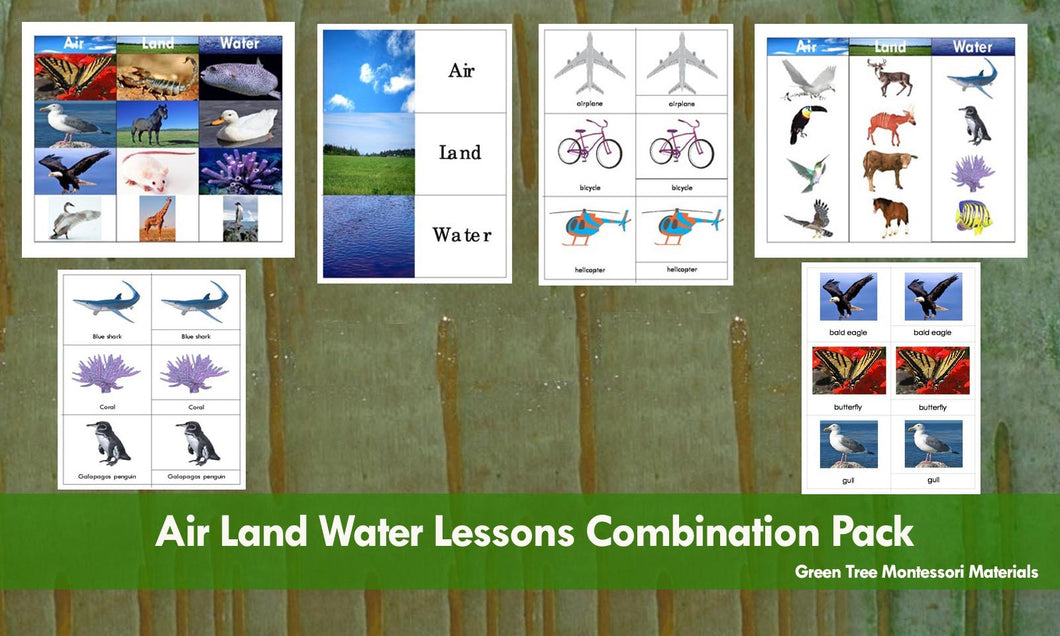 Air Land Water Lessons Combination Pack (PDF FILE)