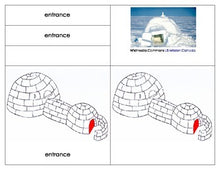 Parts of an Igloo- Three Part Cards