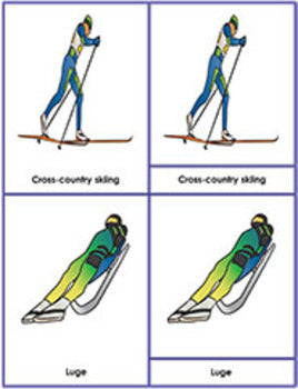 Winter Olympic Sports: Three Part Cards
