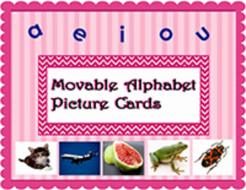 Montessori Movable Alphabet Picture Cards