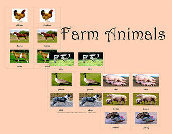 Farm Animals Freebie