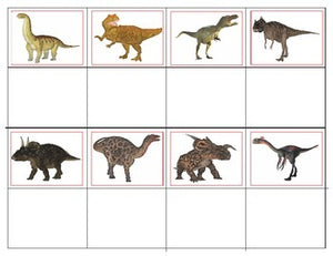 Realistic Dinosaurs: Mini Matching and Memory Game
