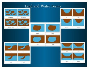 Montessori Land and Water Forms: Three Part Cards
