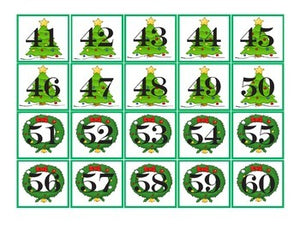 Christmas Pocket Chart Number Cards 1-100