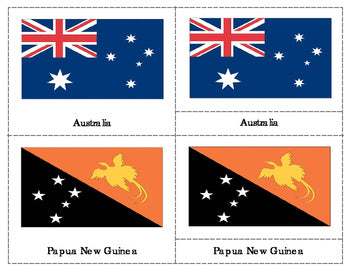 Flags of countries in Australia and Oceania