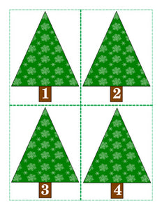 Freebie: Christmas Tree Number Cards 1-20