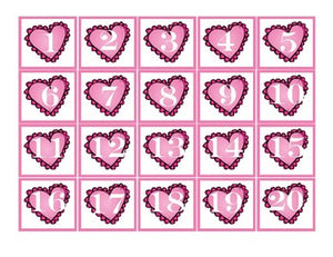 Pocket Chart Number Cards 1-100- Valentine Math