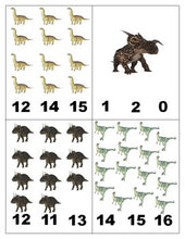 Dinosaurs: Count and Clip Cards for Math Centres