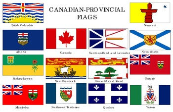 Canadian Flags Poster: