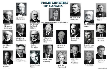 Prime Ministers of Canada Poster: