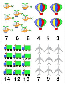 Transportation: Count and Clip Cards for Math Centres