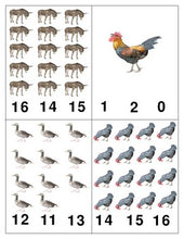 Farm Animals: Count and Clip Cards