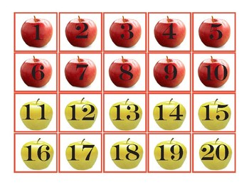 Pocket Chart Numbers 1-100 - Fall Apples
