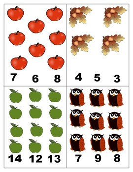 Autumn: Count and Clip Cards