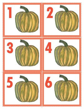 Freebie: Autumn Number Cards 1-10