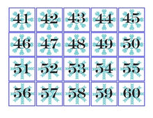WINTER~ Pocket Chart Numbers 1-100 - Snowflakes