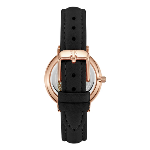 Black Strap - Rose Gold Buckle