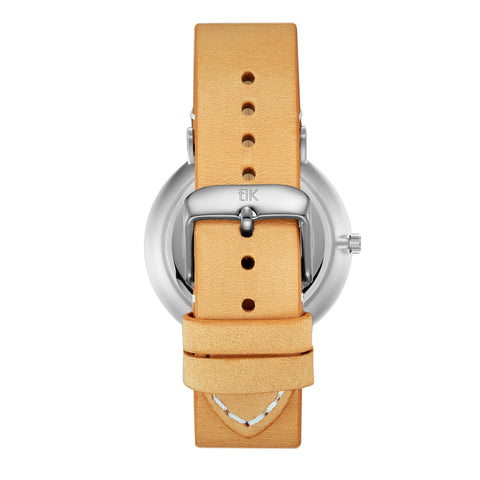 Tan Leather Strap - Silver Buckle